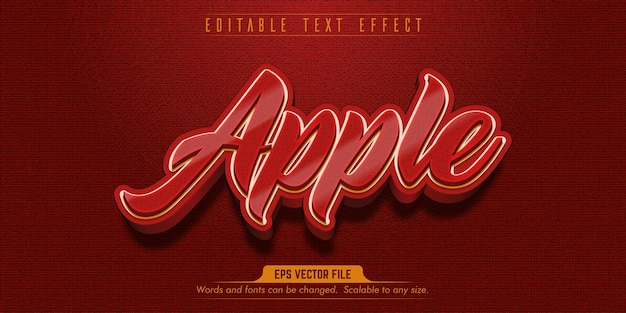 Bearbeitbarer texteffekt im apple-stil