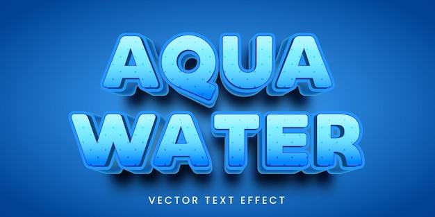 Bearbeitbarer texteffekt im aquawasserstil