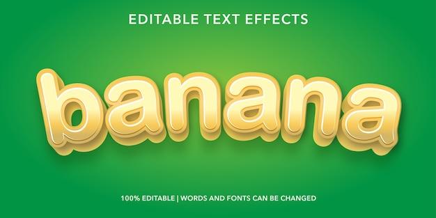 Bearbeitbarer texteffekt im bananen-3d-stil