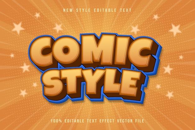 Bearbeitbarer texteffekt im comic-stil prägen cartoon comic-stil