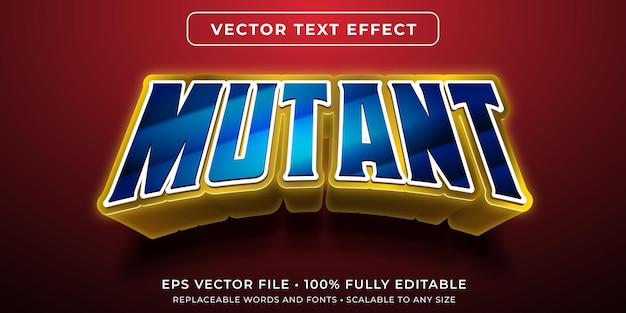 Bearbeitbarer texteffekt im comic-superhelden-mutantenstil