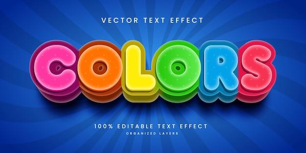 Bearbeitbarer texteffekt im farbstil