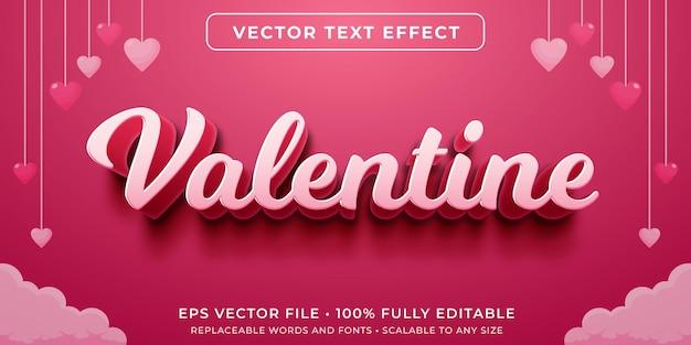 Bearbeitbarer texteffekt im kursiven valentinstag