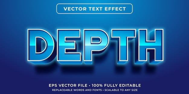 Bearbeitbarer texteffekt im leuchtend blauen textstil