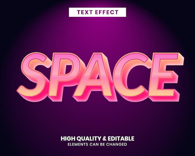 Bearbeitbarer texteffekt im modernen stil mit lebendigen farben
