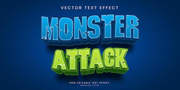 Bearbeitbarer texteffekt im monsterangriffsstil