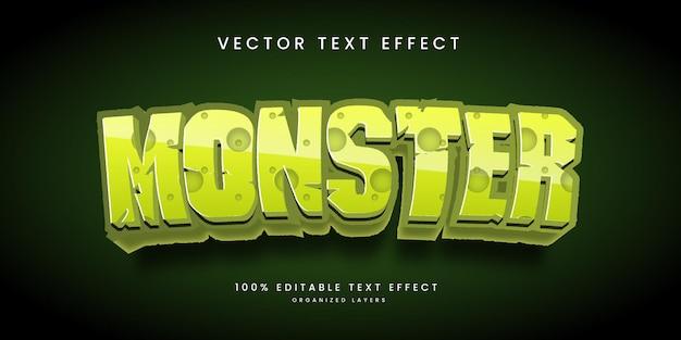 Bearbeitbarer texteffekt im monsterstil