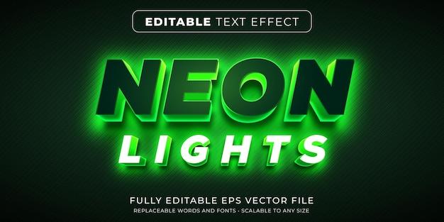 Bearbeitbarer texteffekt im neonlichtstil