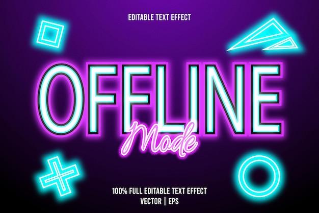 Bearbeitbarer texteffekt im offline-modus 3-dimensionale prägung im neon-stil