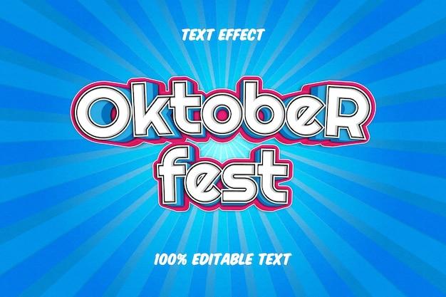 Bearbeitbarer texteffekt im oktoberfest-stil