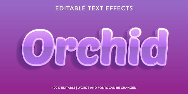 Bearbeitbarer texteffekt im orchideen-3d-stil