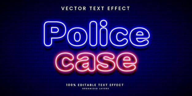 Bearbeitbarer texteffekt im polizeifallstil