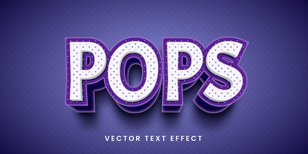 Bearbeitbarer texteffekt im pop-stil