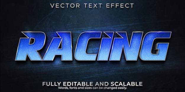Bearbeitbarer texteffekt im racer-speed-stil