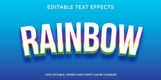 Bearbeitbarer texteffekt im regenbogen-3d-stil