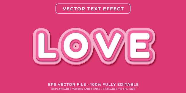 Bearbeitbarer texteffekt im rosa papierschnittstil