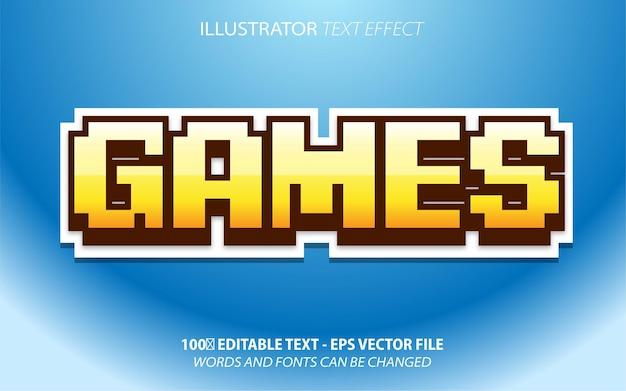 Bearbeitbarer texteffekt im spielpixel-stil