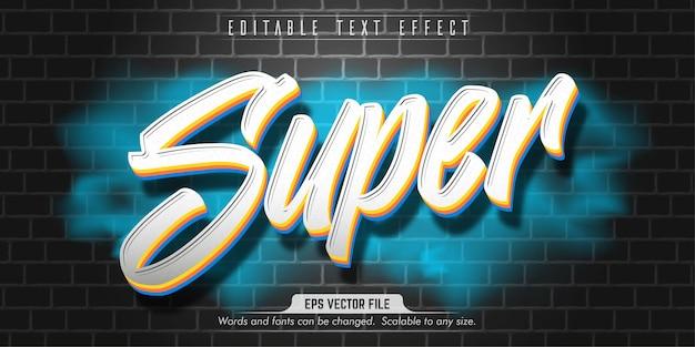 Bearbeitbarer texteffekt im super-graffiti-stil