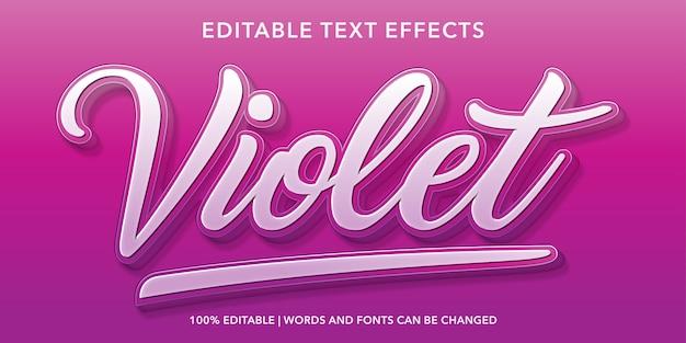 Bearbeitbarer texteffekt im violetten 3d-stil