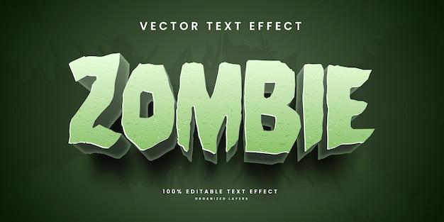Bearbeitbarer texteffekt im zombie-stil premium-vektor