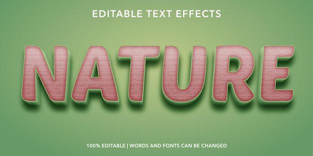 Bearbeitbarer texteffekt in der natur