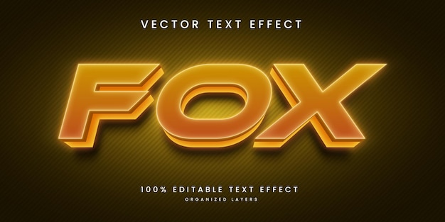 Bearbeitbarer texteffekt in fox style premium