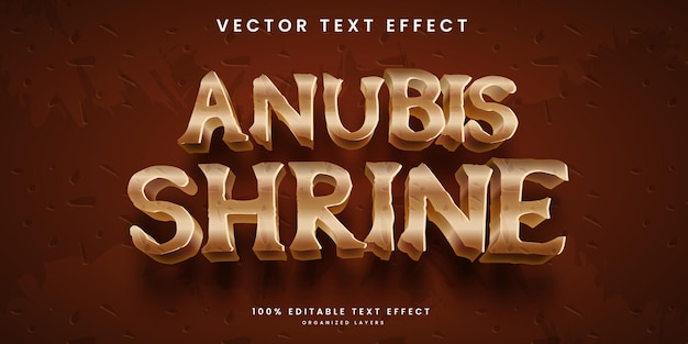 Bearbeitbarer texteffekt in god of egypt anubis-stil premium-vektor of