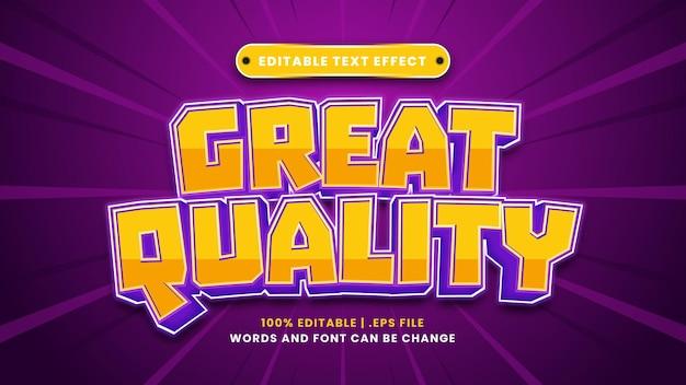 Bearbeitbarer texteffekt in hervorragender qualität im modernen 3d-stil