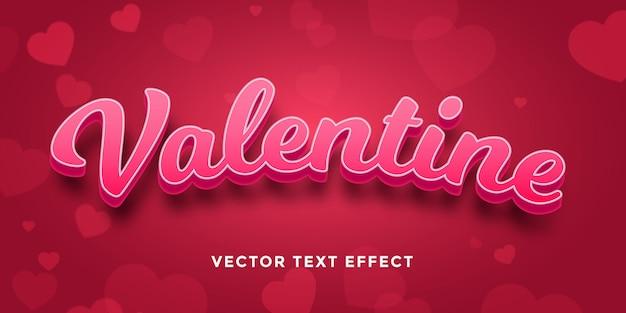 Bearbeitbarer texteffekt in valentine