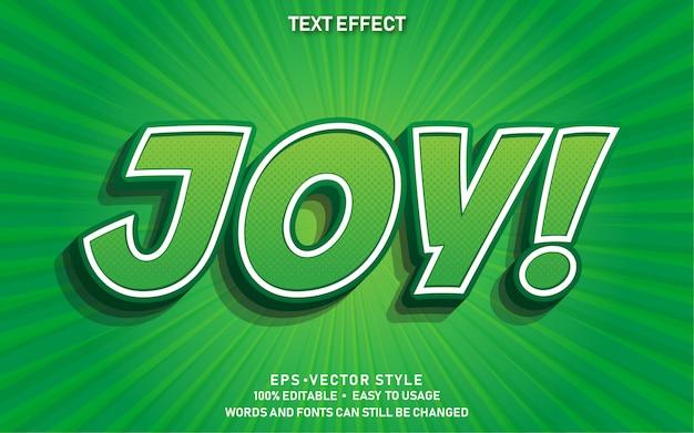 Bearbeitbarer texteffekt joy comic premium