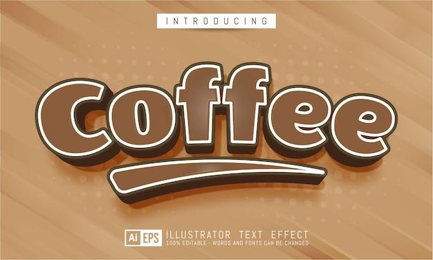 Bearbeitbarer texteffekt - kaffeetextstilkonzept