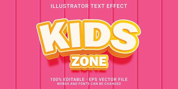 Bearbeitbarer texteffekt - kinderstil