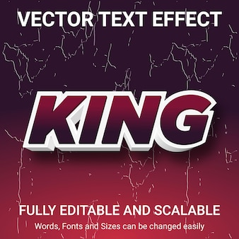 Bearbeitbarer texteffekt - king-textstil