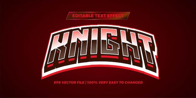 Bearbeitbarer texteffekt - knight-textstil