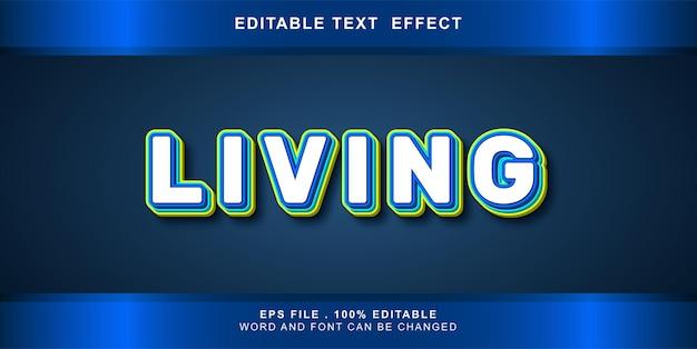 Bearbeitbarer texteffekt lebendig