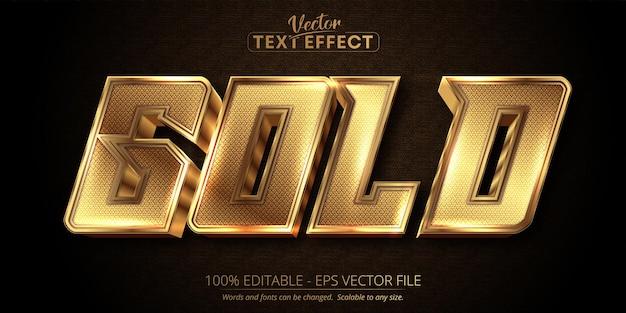 Bearbeitbarer texteffekt luxus-goldtext auf dunklem strukturiertem hintergrund