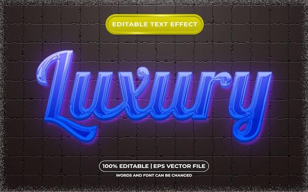 Bearbeitbarer texteffekt-luxus-lichtstil