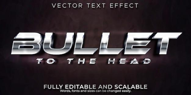 Bearbeitbarer texteffekt, metallischer aufzählungszeichen-textstil