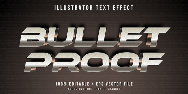 Bearbeitbarer texteffekt - metallischer überschriftenstil