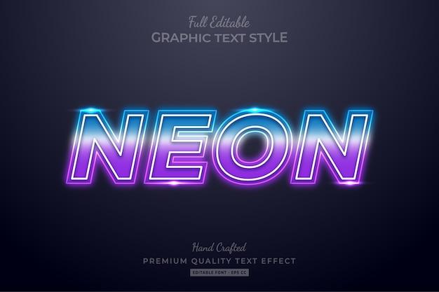 Bearbeitbarer texteffekt mit farbverlauf neon