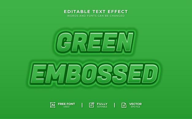 Bearbeitbarer texteffekt mit grüner prägung
