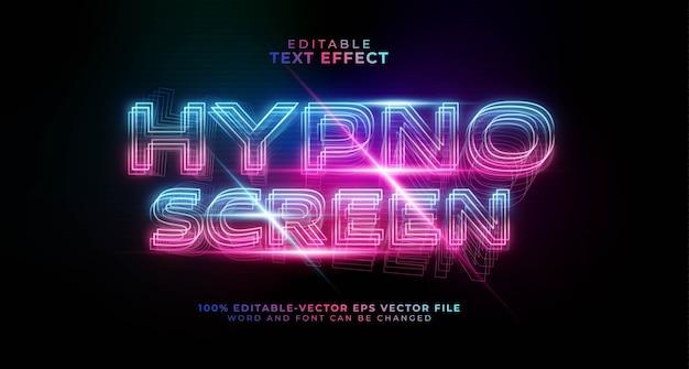 Bearbeitbarer texteffekt mit hypno-bildschirmverlauf