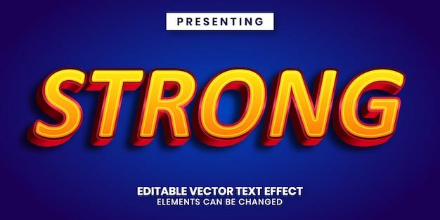Bearbeitbarer texteffekt mit starkem fettdruck
