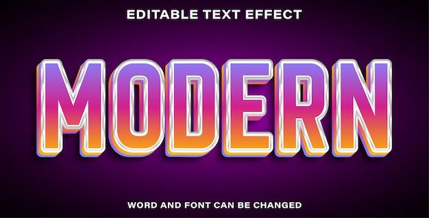 Bearbeitbarer texteffekt modern