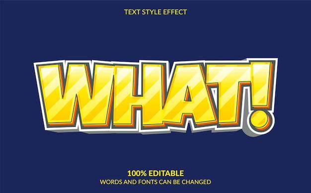 Bearbeitbarer texteffekt moderner comic-textstil