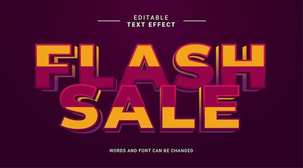 Bearbeitbarer texteffekt moderner fetter stil flash-verkauf gelb violett