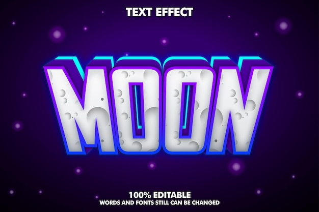 Bearbeitbarer texteffekt mond mit neonlicht und schatten