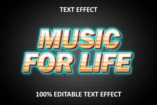 Bearbeitbarer texteffekt music for life