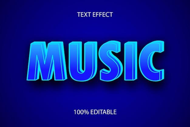 Bearbeitbarer texteffekt musikfarbe blau