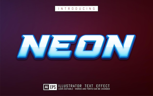 Bearbeitbarer texteffekt neon-textstilkonzept